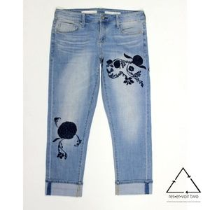 Anthropologie Pilcro Hyphen Floral Jeans